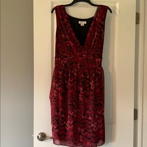 Red and black light weight dress